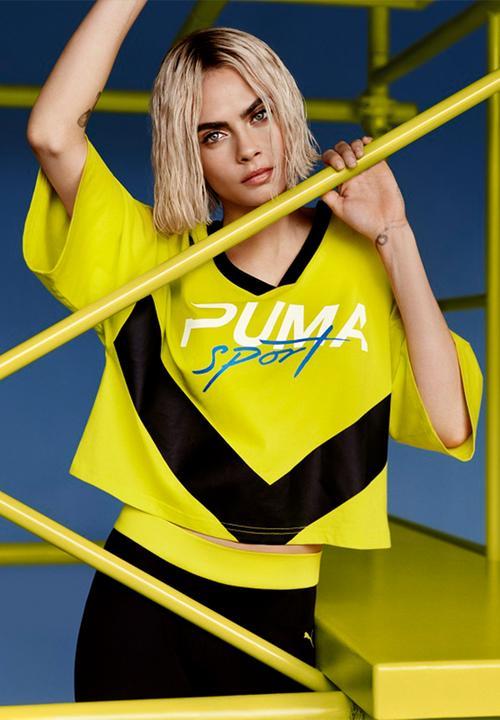 d087198aadf Xtreme cropped V-neck tee - Sulphur spring PUMA T-Shirts ...
