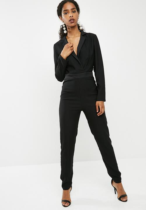Longsleeve Tailored Jumpsuit   Black by Dailyfriday
