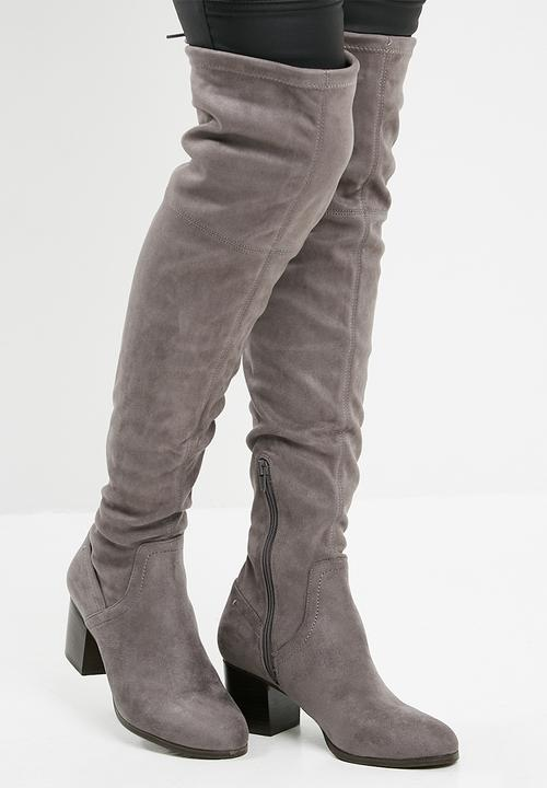 602f2def1c3 Abiwia over the knee boot - Grey ALDO Boots