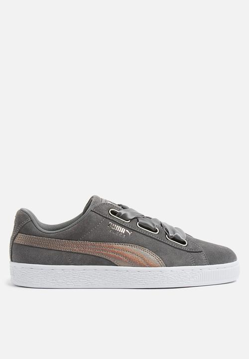 Suede Heart LunaLux Wn s - Smoked Pearl PUMA Sneakers  368094162