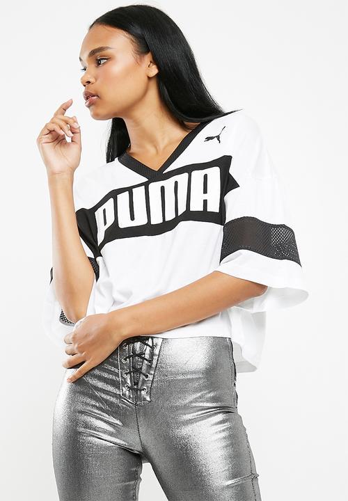 27a62a62b05 Urban sports cropped tee - White PUMA T-Shirts | Superbalist.com