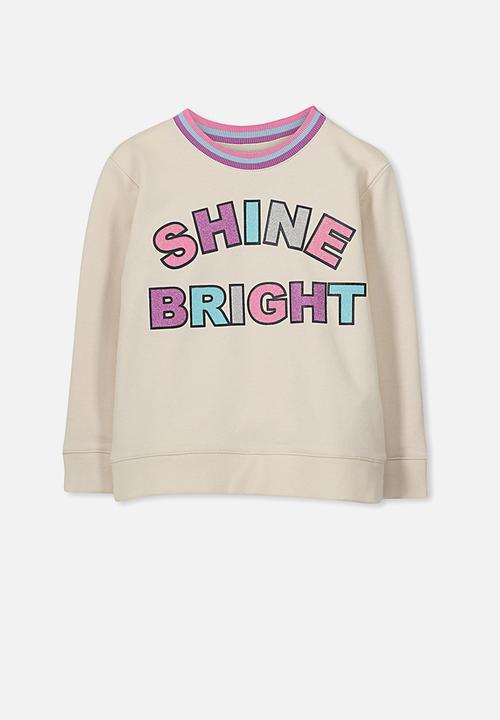 b206b8640ccb Kids Sage set in sleeve fleece - eggnog shine bright Cotton On ...