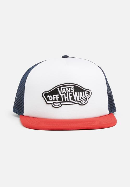 b6f64412eb4 Classic patch trucker cap - dress blue white chilli pepper Vans ...