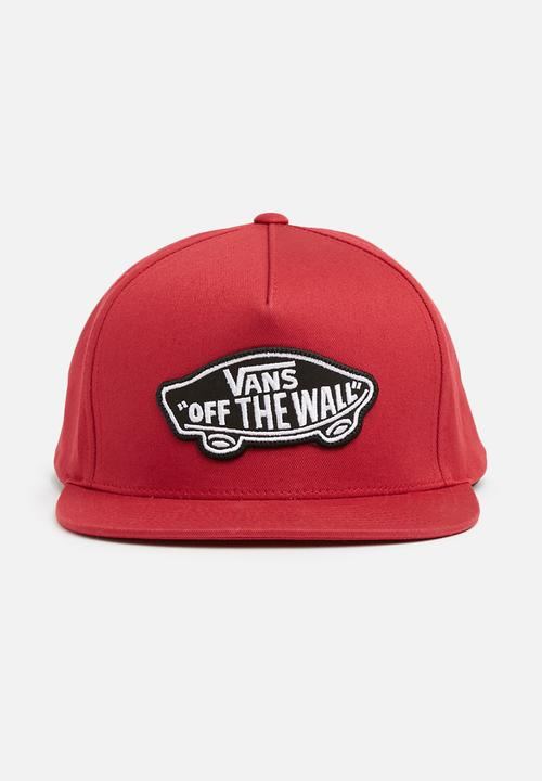 Classic patch snapback cap - Red Vans Headwear  3a445f7a8273