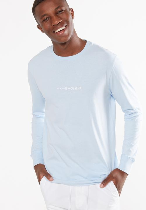 8a06316eeadc58 Tbar long sleeve top - blue mist/tokyo international Cotton On T ...