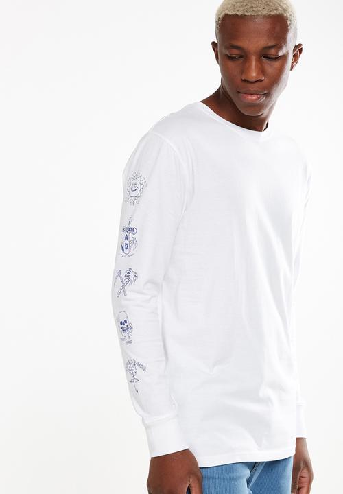 ae2ac93b20cf2b Tbar long sleeve top - white/sunshine vibes Cotton On T-Shirts ...