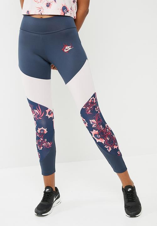0c907ee1bad62 Essential floral leggings - Thunder blue Nike Bottoms   Superbalist.com