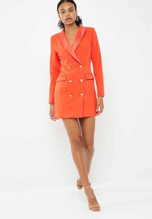 Orange Dress Coat