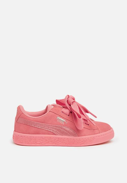 d4ae89b2586f95 Kids girls suede heart pink sneaker - pink PUMA Shoes