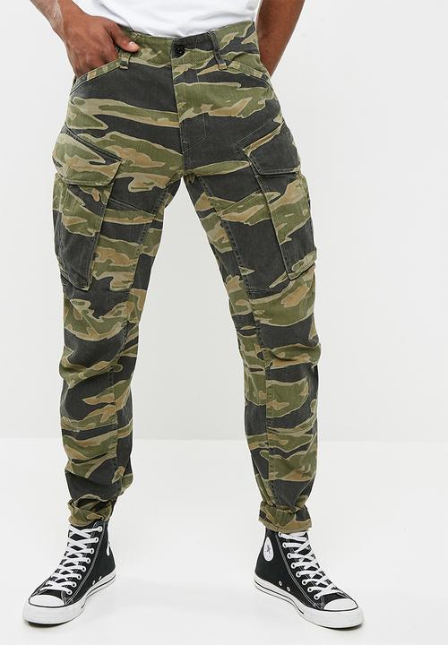 45f40baa Rovic 3D straight tapered- sage/black G-Star RAW Pants & Chinos ...