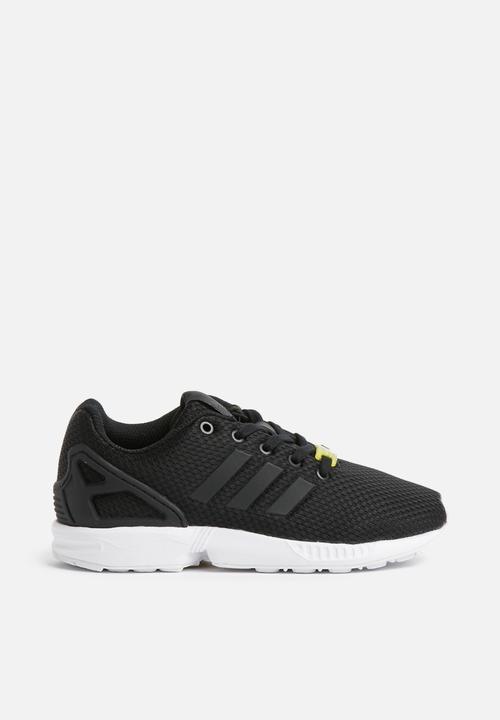 1c5f855494777 Kids ZX flux J - black black white adidas Originals Shoes ...