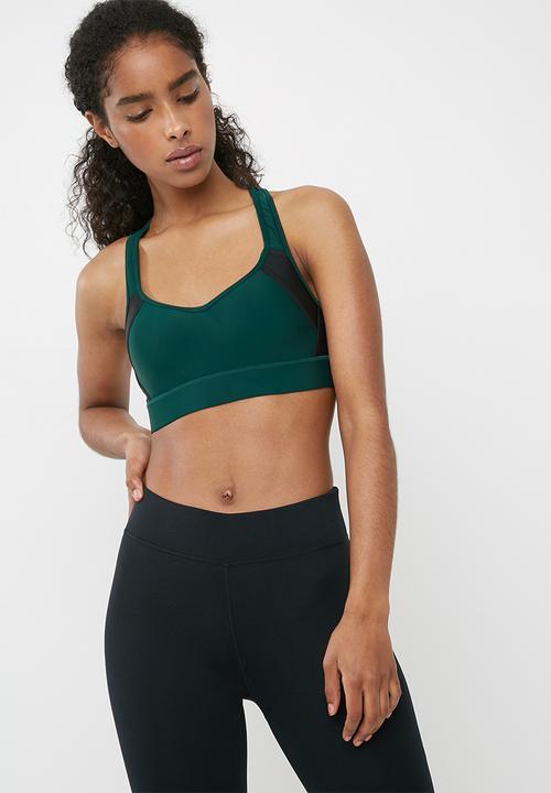 cc865c05cd1 High impact sports bra - Hunter green black Cotton On Sports Bras ...