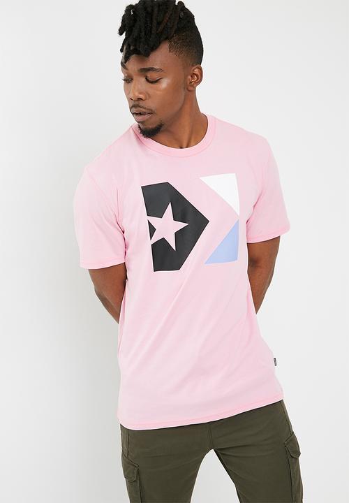 Converse Star chevron Tri Colour Tee - Cherry Blossom Converse T ... cc32a7bac9879