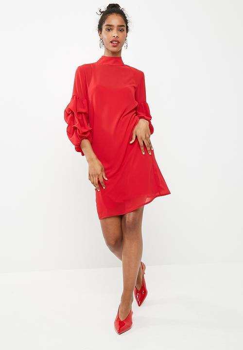 9fa0a92addf Bubble sleeve shift dress - red dailyfriday Formal   Superbalist.com