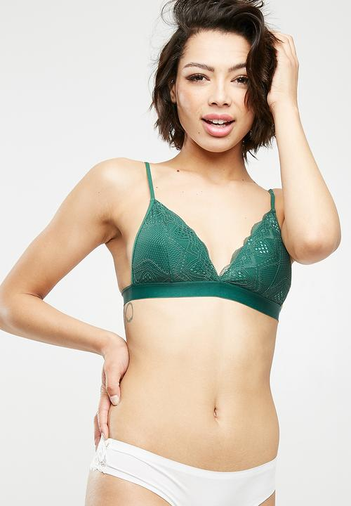 e00f02ab30 Cindy bralette - Emerald green Cotton On Bras