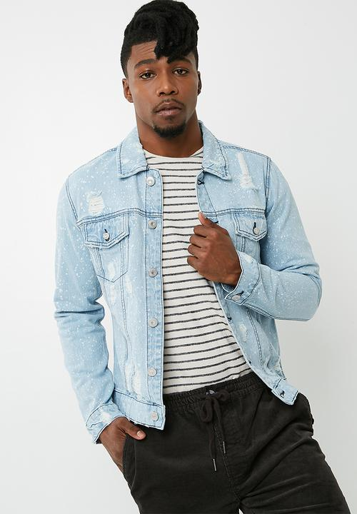 5d5af4964 Rocker denim trucker jacket - blue