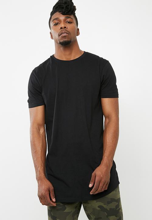 f2a11ced4bf Curved Hem Longline Tee - black Superbalist T-Shirts   Vests ...