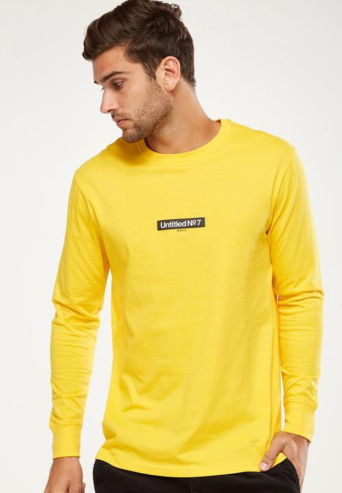 80546635567b25 Tbar long sleeve - safety yellow / untitled no.7 Cotton On T-Shirts ...