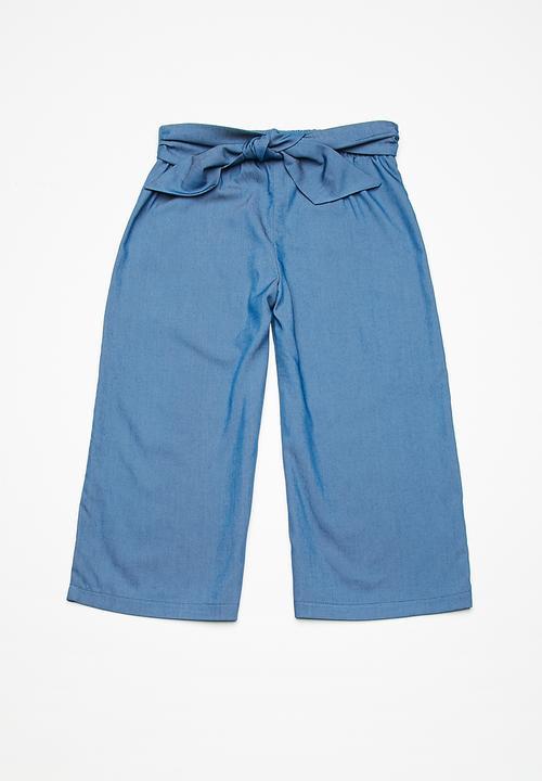 8ceb8a9cd96c0 Kids girls culotte pants - light chambre denim dailyfriday Pants ...