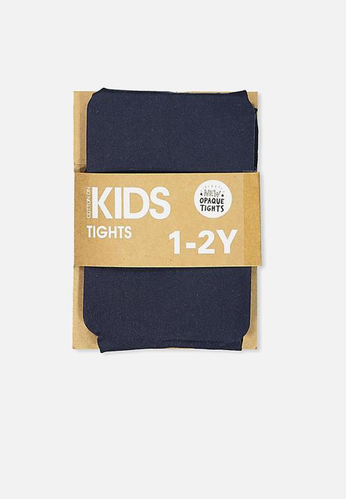 ceca5665009 Kids opaque tights - navy Cotton On Accessories