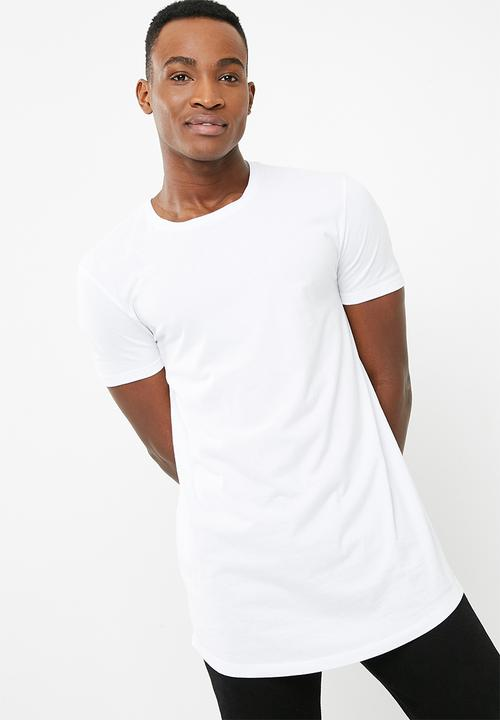051ee53b Curved Hem Longline Tee - white Superbalist T-Shirts & Vests ...