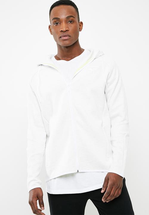 072c77f17a96 Pace primary hoodie - white ice heather PUMA Hoodies