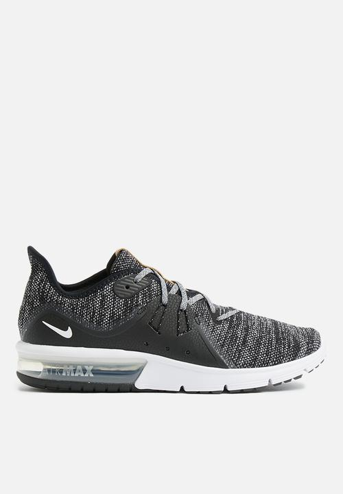 0e0d77ec4860 Men s Nike Air Max Sequent 3 Running Shoe - Black White Dark Grey ...