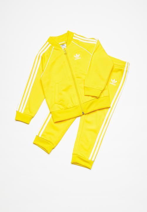 2184c16ed38 Kids I SST tracksuit - yellow adidas Originals Jackets   Knitwear ...