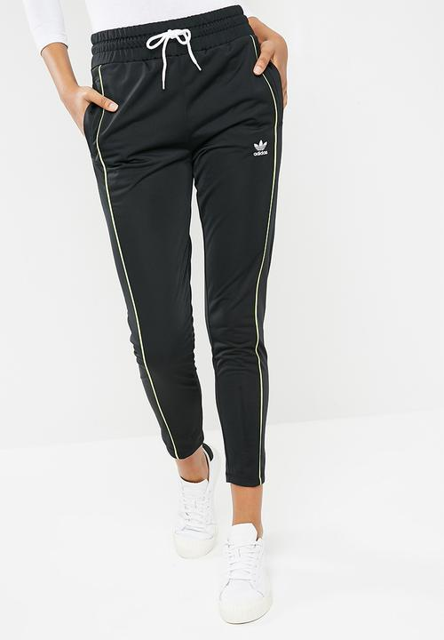 12dacc639603 AA-42 track pants - black   lime adidas Originals Bottoms ...