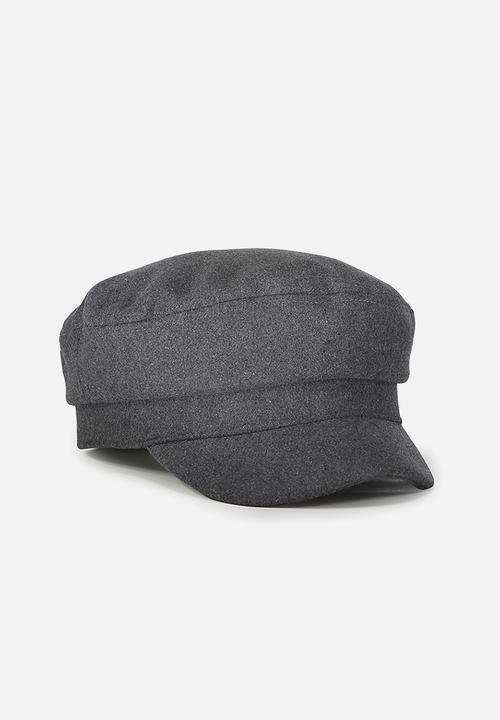 Bailey baker boy cap  charcoal wool felt Cotton On Headwear ... 5b64748297a