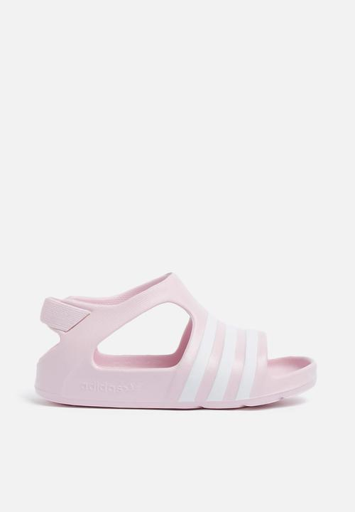 b4c6514a8a93 Infants Adilette Play I - pink white adidas Originals Shoes ...