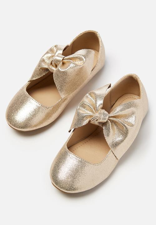 a7f74dcd5 Kids girls knot ballet - gold