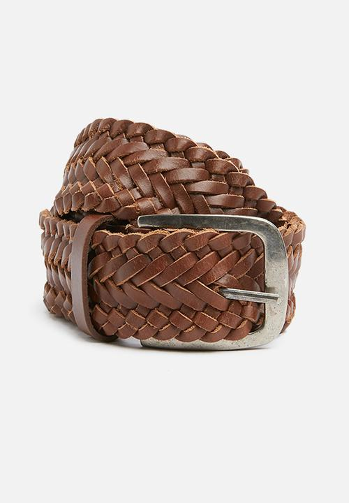 a7f57aefb0a09 Matthew woven leather belt brown superbalist belts jpg 500x720 Woven leather