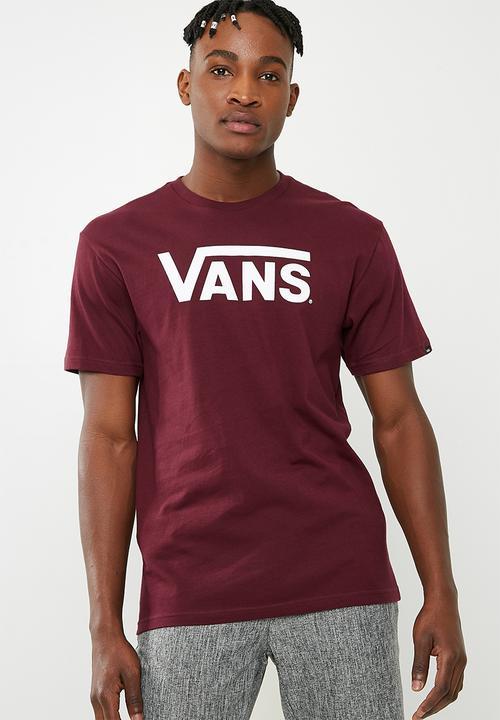 burgundy vans t shirt