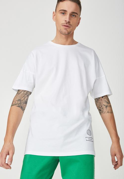 ed23e1c89 Drop shoulder longline tee - white/off quilter Cotton On T-Shirts ...