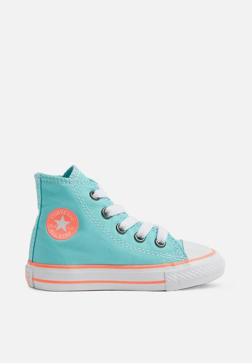 af2a34493c2169 Chuck taylor all star hi - bleached aqua crimson pulse - infant ...