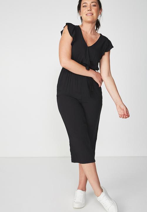 363d82ada02 V Neck Culotte Jumpsuit - Black Cotton On Jumpsuits   Playsuits ...