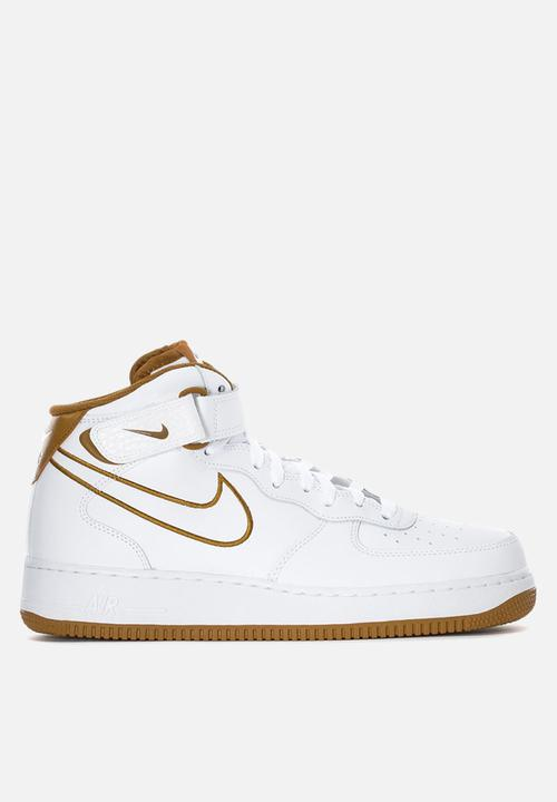buy online f495d c10ae Nike - Air Force 1 Mid  07 Leather - White   Muted Bronze