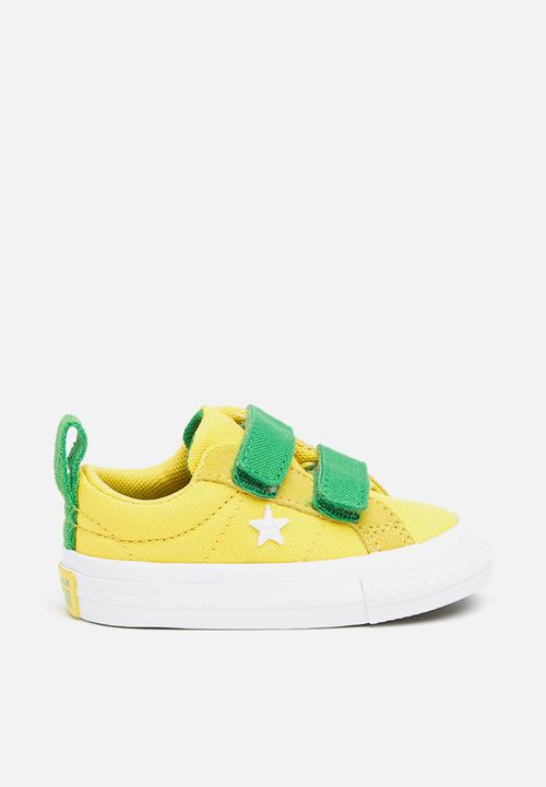 8aca9b4a514dac One star 2v - ox - desert gold green white - infant Converse Shoes ...