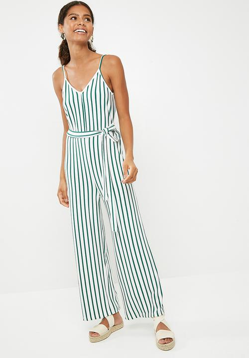 38955908b0a Culotte jumpsuit - green   white stripe Superbalist Jumpsuits ...
