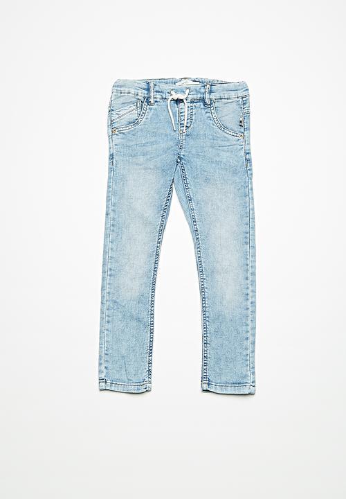 Bedwelming Robin draw cord denim pants - light blue denim name it Pants #IJ54