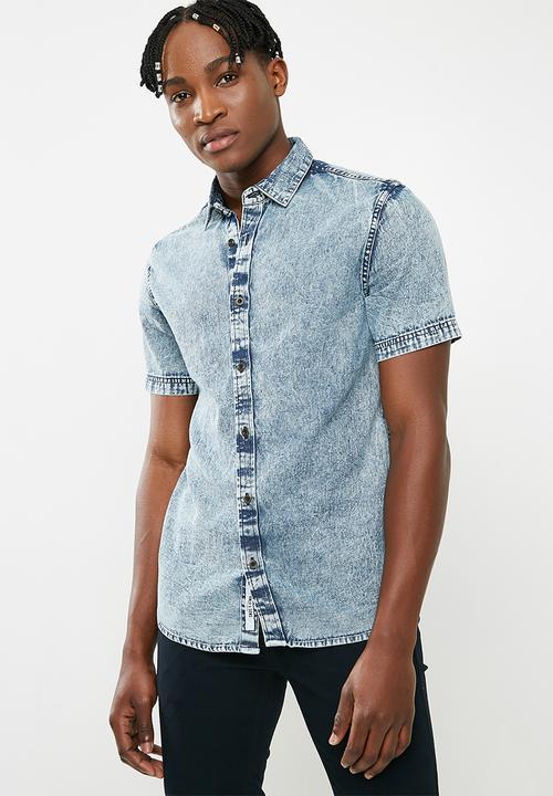 2a7d2efd529 Tyson denim shirt - acid wash Only   Sons Shirts