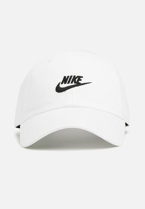 90bbc0494 U NSW H86 Futura washed - white/white/black Nike Headwear ...