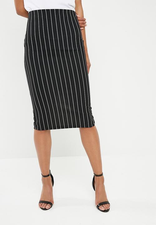 c460475aaf Pull on bodycon skirt - black and milk stripe Superbalist Skirts ...
