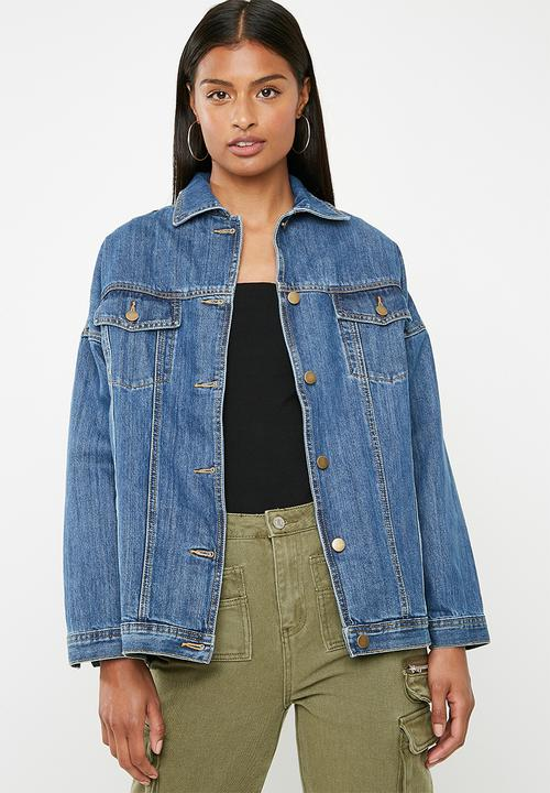 3ff275b2d39a Tia oversized denim jacket - medium blue 2 Superbalist Jackets ...