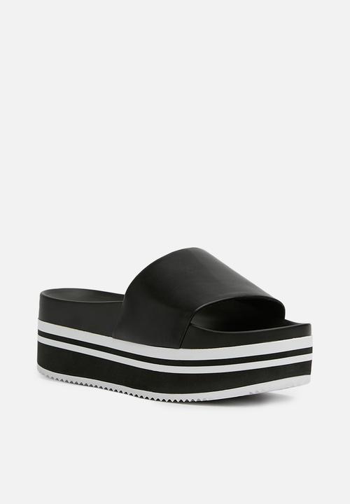 Doemma monochrome platform slider - black ALDO Sandals   Flip Flops ...