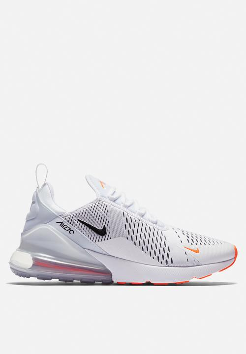4e9c3b28905 Nike Air Max 270 - AH8050 -106 - White  Black Total Orange Nike ...