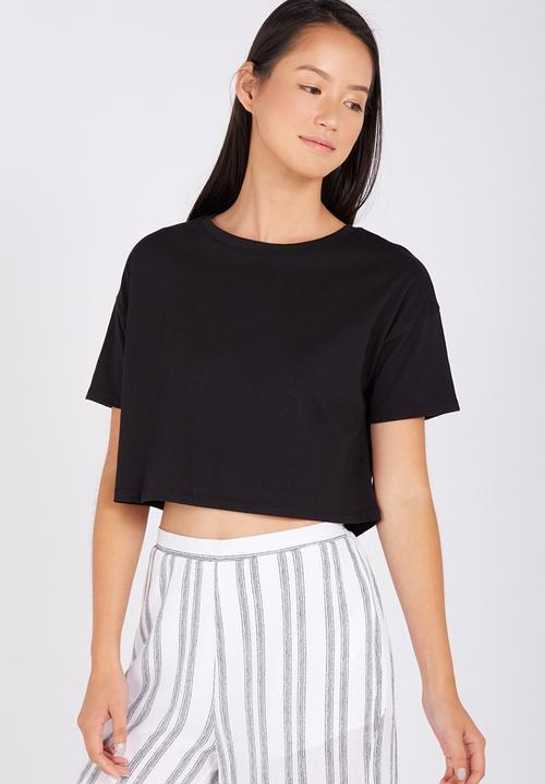 ad046520bb14 Loose crop tee - black Supré T-Shirts, Vests & Camis | Superbalist.com
