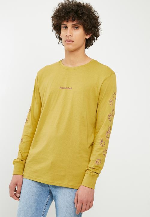 909e88ac51c655 Tbar Long Sleeve Tee - bamboo yellow/stay cool-ish Cotton On T ...