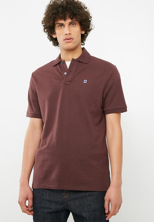 a26aa628b2 Dunda polo s s- burgundy G-Star RAW T-Shirts   Vests